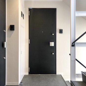 共用廊下です。階段もエレベーターもあります。