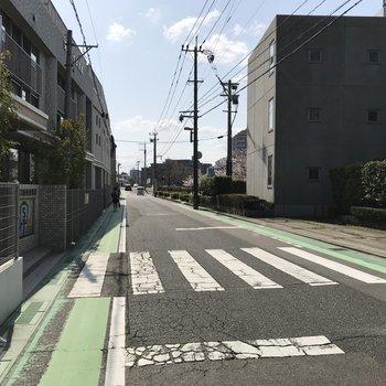 笹原駅まではこの道を通って