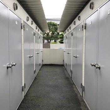 トランクルームもありました。