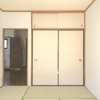 和室にも収納。収納が多いお部屋は嬉しいですね。※写真は2階の同間取り別部屋のものです