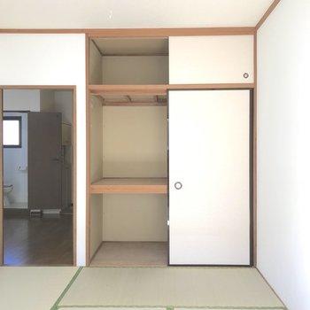 棚があればもっと使いやすそうですね。※写真は2階の同間取り別部屋のものです