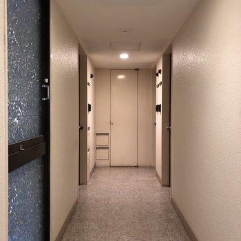 内廊下で雨の日も出かけやすく。