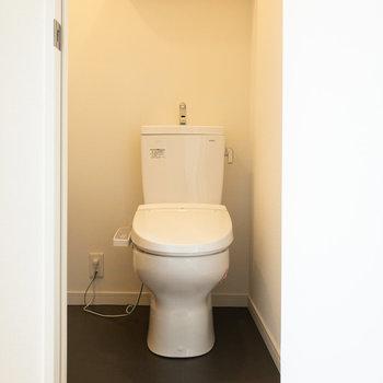 トイレは個室です。左側に洗面台があります。