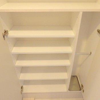 こんなに入るスペースがあります。(※写真は8階の同間取り別部屋のものです)