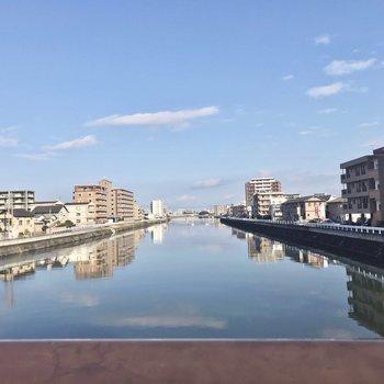 近くにある宇美川。お散歩コースにいいですよ!