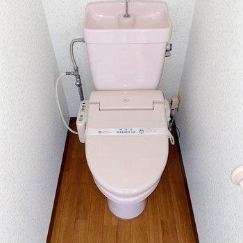 トイレがほんのりピンク色なのが可愛いらしくて◎