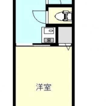 お部屋は1K。6.7帖です!