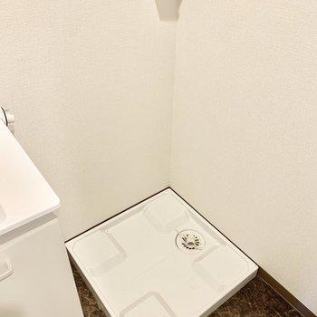 右隣に洗濯機置けます。