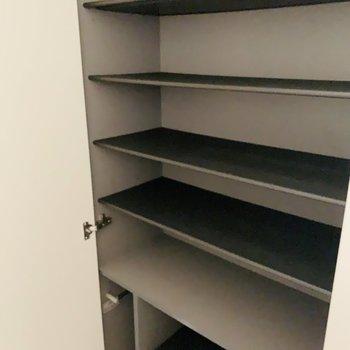たくさん入りそうなシューケース。(※写真は7階の同間取り別部屋のものです)