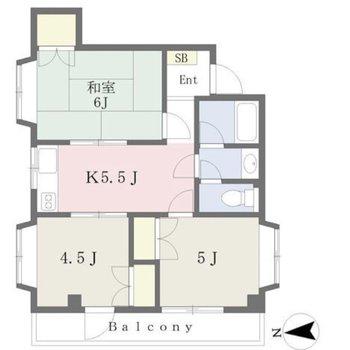 各部屋に収納がある3K。