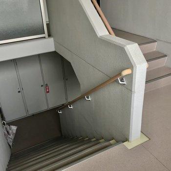 階段を登って3階まで!