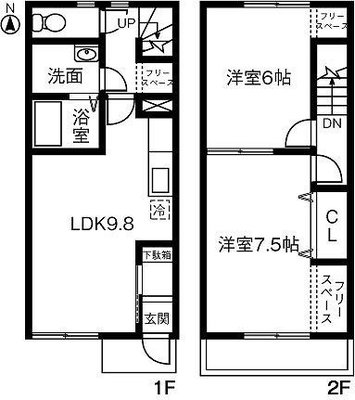 double eight maisonette の間取り