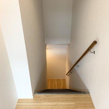 さて、階段を降りて。