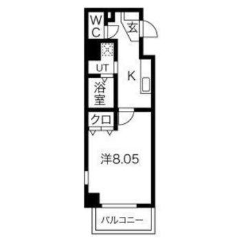 そんな真っ直ぐな人になれるかもしれない、一人暮らし向けのシンプルなお部屋です。
