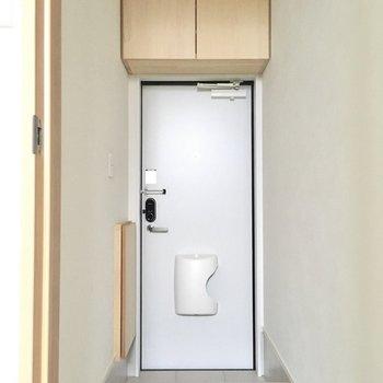 玄関は1段低くなっているのでホコリも入りにくいですね。(※写真は同間取り別部屋のものです)
