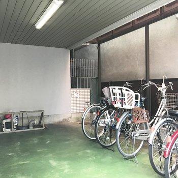 共用部】マンション下に自転車を停めよう!
