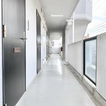 共用部】廊下も清潔感があります。