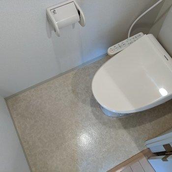 ウォッシュレットつきで便利なトイレ。