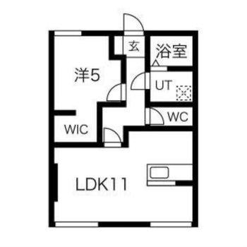 一人暮らし向けの1LDKのお部屋です。