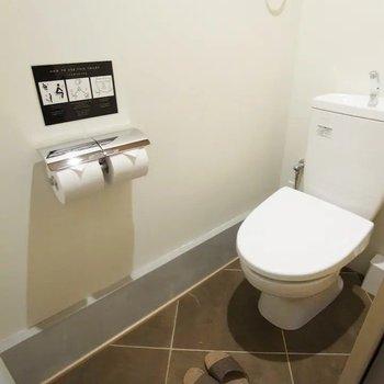 トイレも清潔感がありますね。