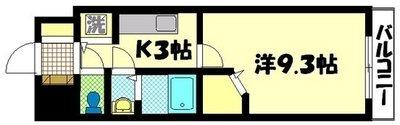 ノーブル広島駅前の間取り