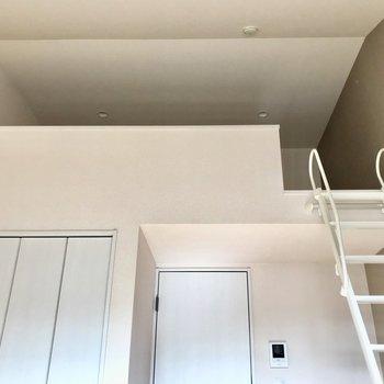 ロフトに登っていきましょう。※写真は2階の反転間取り別部屋のものです