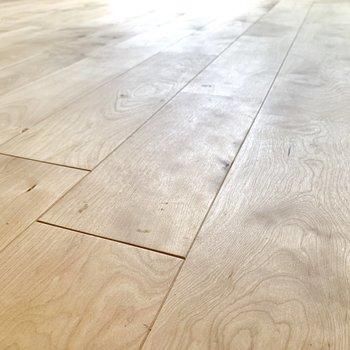 床は経年変化を楽しめるバーチの無垢材を使用しています。
