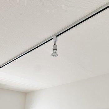 天井はライティングレールでクールに。