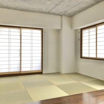 【LDK】琉球畳のいい香りが鼻をくすぐります。