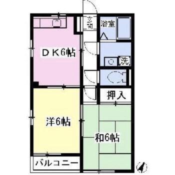同じ広さの3つの居室が特徴的。