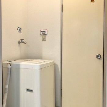 洗濯機置場もこちらに。※家具はサンプルになります