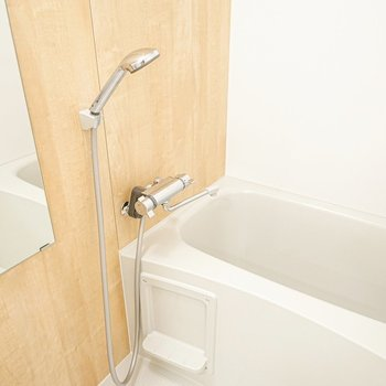 お風呂まで木材なんて、どれだけ気持ち良いの。(※写真は別部屋のモデルルームのものです)