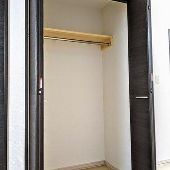 大容量のクローゼットで荷物が多くても、お部屋を広々使える♪