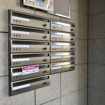 メールボックスも完備。
