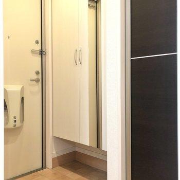 玄関スペースはコンパクトめ。