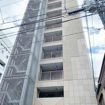 11階の建物なので、高いな〜。お部屋は3階部分です。