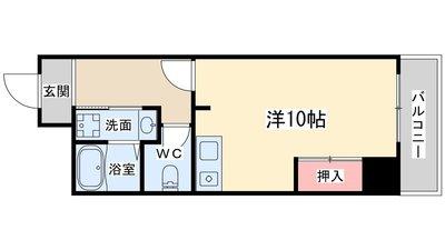 トーカンマンション東梅田の間取り
