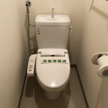 ちょうど良い広さのトイレです。