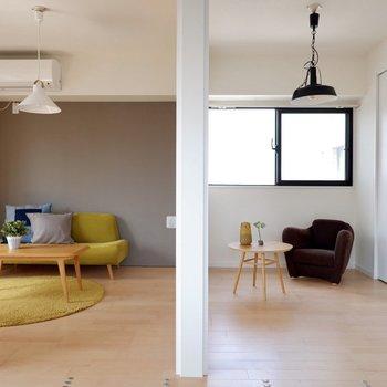 洋室2室はシーンによって使い分けられます。