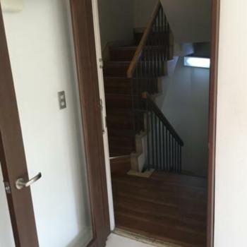 扉を開けると、目の前に階段があります!