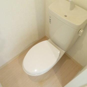 トイレにウォシュレットはありません