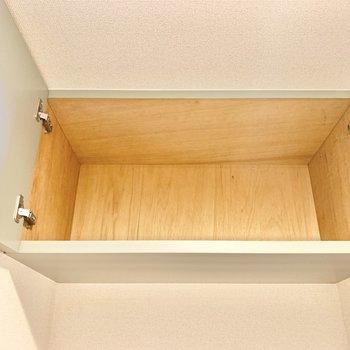上の段にはアウトドア用品などをしまいましょう。
