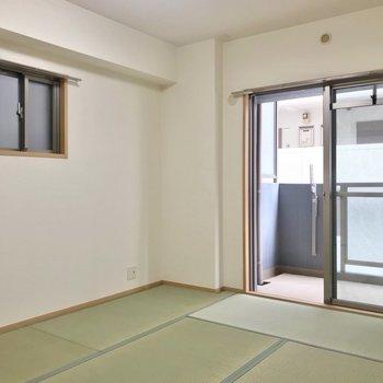 和室は6畳。お子さまの遊び場や寝室として使いたい。