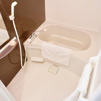 1人暮らしには十分な広さの浴室です。