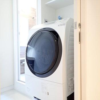 洗剤置き場もあります!