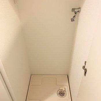 扉で隠せるのがいいですね。(※写真は7階の同間取り別部屋、モデルルームのものです)