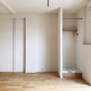 【LDK】洗濯機置場はこちらにあります
