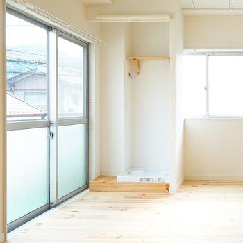【イメージ】洗濯機置場はお部屋に設置します。