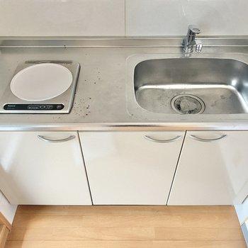 シンクが広いので洗い物はラクラクなんです◯