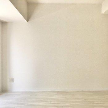 こちらの壁の左端、テレビ端子を発見しました。